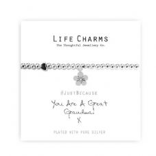 "Life Charms Bracelet - "" You Are a GREAT GRANDMA "" - Beautifully Gift Boxed"